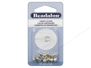 Beadalon Beadalon Crimp: Beadalon Crimp Covers 6 mm Silver Plated 18 pc.