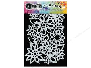 "Ranger Craft & Hobbies: Ranger Stencil Dylusions 5""x 8"" Flower Medley"