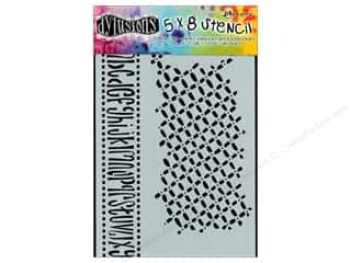 "Ranger Clearance Crafts: Ranger Stencil Dylusions 5""x 8"" Alphabet Border"
