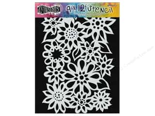 "Graphic Impressions Plastic Stencils: Ranger Stencil Dylusions 9""x 12"" Flower Medley"