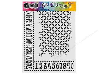 "Ranger Clearance Crafts: Ranger Stencil Dylusions 9""x 12"" Alphabet Border"