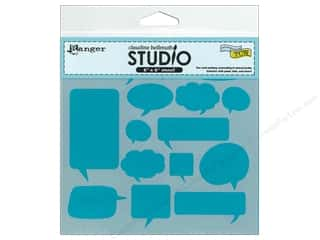 Ranger Craft & Hobbies: Ranger Stencil Claudine Hellmuth Chit Chat