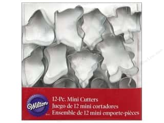 Wilton Cookie Cutter Set Mini Metal Holiday 12pc