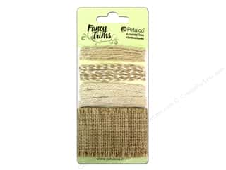Petaloo Fancy Trims Burlap Astd Natural