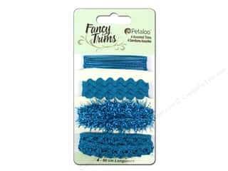Petaloo Fancy Trims Glitz Astd Teal
