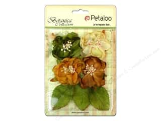 Flowers / Blossoms Brown: Petaloo Botanica Collection Blooms Amber/Ivory/Green/Brown
