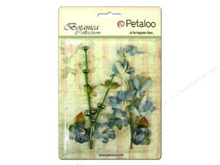 Petaloo Botanica Floral Ephemera Grey Blue