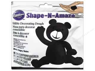 Cooking/Kitchen Black: Wilton Edible Decorations Shape N Amaze Decorating Dough 6oz Black