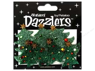 Petaloo Dazzlers Christmas Trees Traditional 7pc