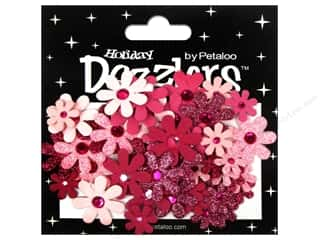 Petaloo Dazzlers Jeweled Florettes Fuchsia 50pc