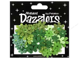 Petaloo Dazzlers Jeweled Florettes Green 50pc