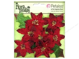 Petaloo FloraDoodles Mini Poinsettias Red 7pc