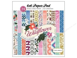 Pads Flowers: Carta Bella 6 x 6 in. Paper Pad Wild Flower