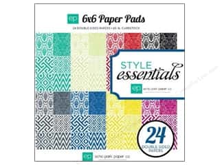 "Echo Park Paper Company Wedding: Echo Park Paper Pad Style Essentials 6""x 6"""