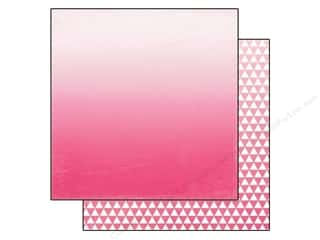 Papers Hot: Echo Park 12 x 12 in. Paper Ombre Collection Hot Pink (25 sheets)