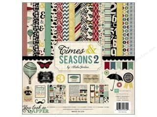 Echo Park Paper Company Alphabet Stickers: Echo Park 12 x 12 in. Times & Seasons 2 Collection Kit