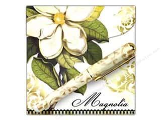 Lily McGee Green: Lily McGee Note Pad Matchbook with Pen Magnolia