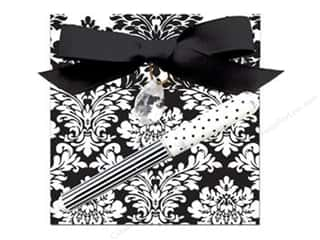 Happy Lines Gifts Note Pads: Lily McGee Note Pad Matchbook with Pen Floral Black & White