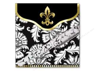 Lily McGee Note Pads / Notebooks: Lily McGee Note Pad Matchbook with Pen Fleur De Lis