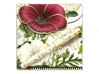 Lily McGee Green: Lily McGee Note Pad Matchbook with Pen Red Flower
