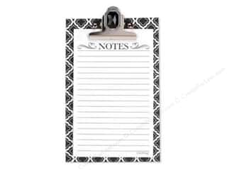 Lily McGee Note Pad Jeweled Clipboard Geo Black