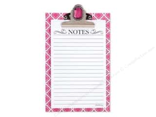 "Lily McGee 9"": Lily McGee Note Pad Jeweled Clipboard Geometric Pink"