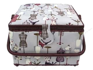 St Jane Sewing Baskets Large Square Gray
