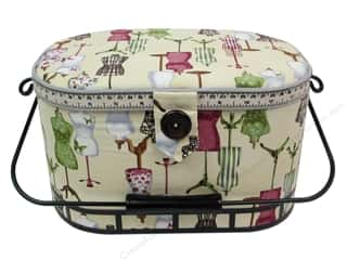 Happy Lines Gifts Sewing & Quilting: St Jane Sewing Baskets Large Oval With Metal Handle