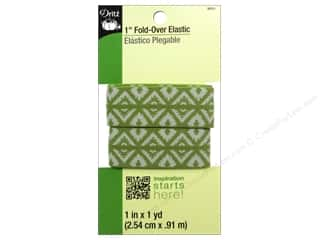 Weekly Specials Dritz: Fold-Over Elastic by Dritz Diamond Design Green 1in x 1yd