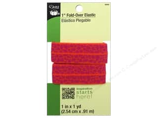 Fold-Over Elastic by Dritz Orange/Red 1 in x 1 yd
