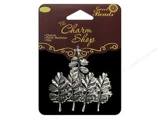 Charms $4 - $5: Sweet Beads Charms Metal Leaf 5 pc. Silver