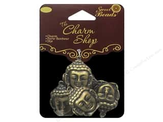 Sweet Beads Charm Shop Charm Mtl Buddha Ox Brs 5pc