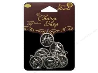 Cording Animals: Sweet Beads Charm Shop Charm Metal Birds Silver 10pc