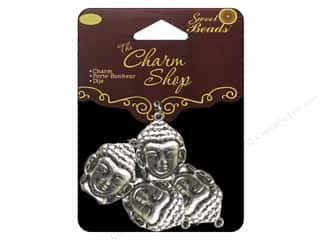 Sweet Beads Charm Shop Charm Mtl Buddha Slv 5pc