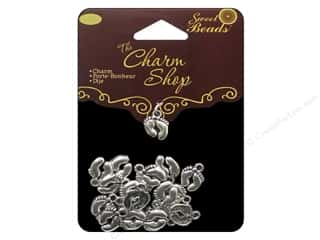 Charms: Sweet Beads Charms Metal Feet  20 pc. Silver