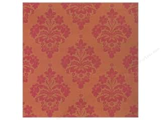Anna Griffin Note Cards: Anna Griffin 12 x 12 in. Cardstock Yuletide Greetings Red/Gold Damask (25 pieces)
