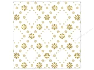 Winter Wonderland Printed Cardstock: Anna Griffin 12 x 12 in. Cardstock Snowflake Gold (25 piece)