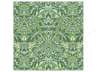 Anna Griffin 12 x 12 in. Cardstock Green Damask (25 piece)