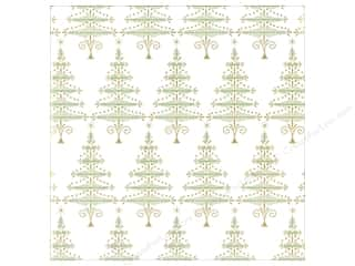 Anna Griffin 12 x 12 in. Cardstock Emerald Forest Xmas Trees (25 piece)