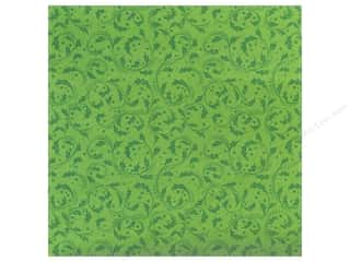 Anna Griffin 12 x 12 in. Cardstock Emerald Forest Holly Swirls (25 piece)
