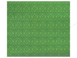 Anna Griffin Note Cards: Anna Griffin 12 x 12 in. Cardstock Emerald Forest Green Circles (25 pieces)