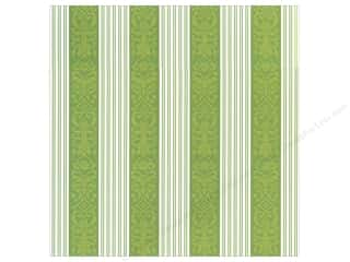 Anna Griffin Clearance Crafts: Anna Griffin 12 x 12 in. Cardstock Emerald Forest Ribbon Stripes (25 pieces)