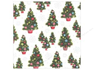Anna Griffin 12 x 12 in. Cardstock Christmas Kitsch Xmas Trees (25 piece)