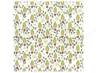 Anna Griffin 12 x 12 in. Cardstock Christmas Kitsch Holly (25 piece)