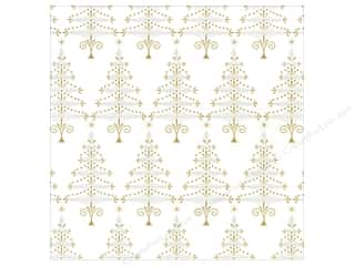 Winter Wonderland Paper: Anna Griffin 12 x 12 in. Cardstock Xmas Trees (25 piece)