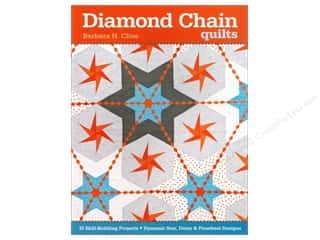 Stars $6 - $10: C&T Publishing Diamond Chain Quilts Book by Barbara Cline