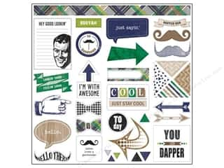 "Projects & Kits Father's Day: Glitz Design Sticker Dapper Dan 12""x 12"" Titles & Accents"
