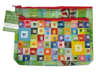 Stash By C&T Tote Sunday Morning Quilts Pouch Set