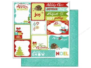 Holiday Sale Printed Cardstock: Imaginisce Paper 12x12 Colors Of Christmas Holiday Wishes (25 pieces)