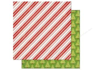 Imaginisce Paper 12x12 Colors Of Christmas Peppermint Stripe (25 piece)